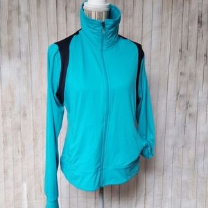 C9 By Champion Teal Zip Up Running Jacket Lg
